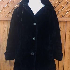 Vintage Black Furry Coat